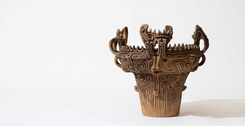 flame-shaped earthenware