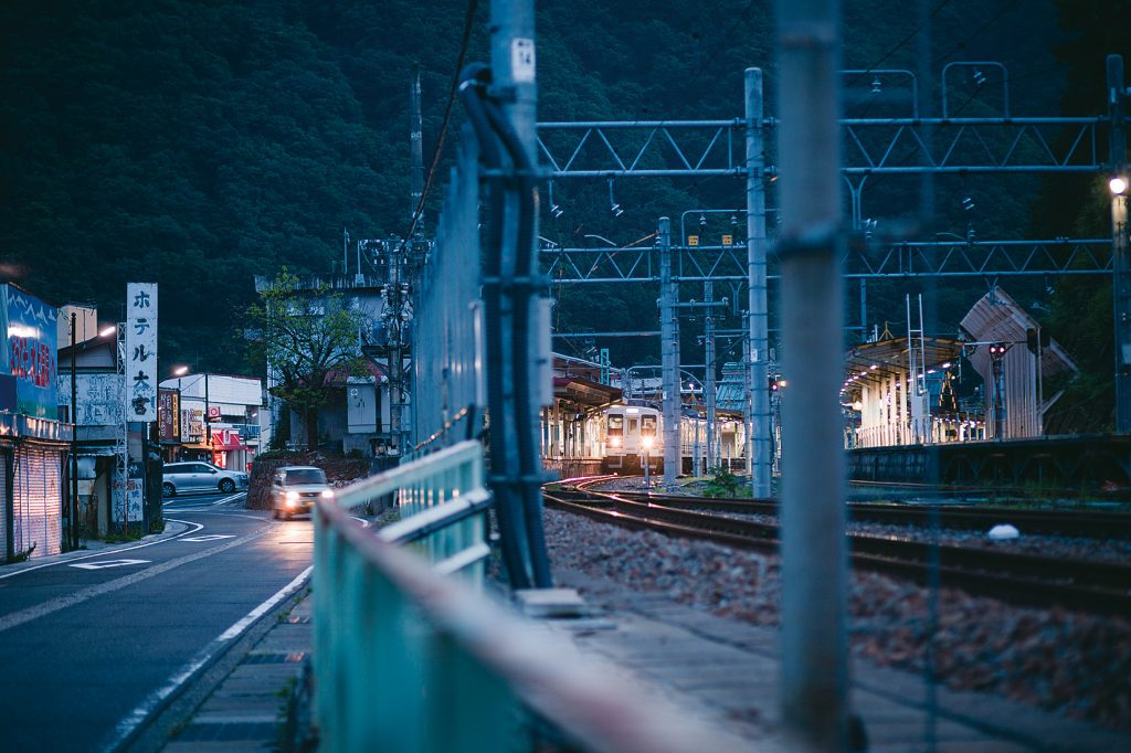 Local train running in YUKIGUNI, Japan