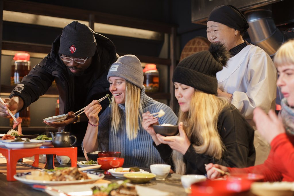 Experience of Japanese local cuisine cooking
