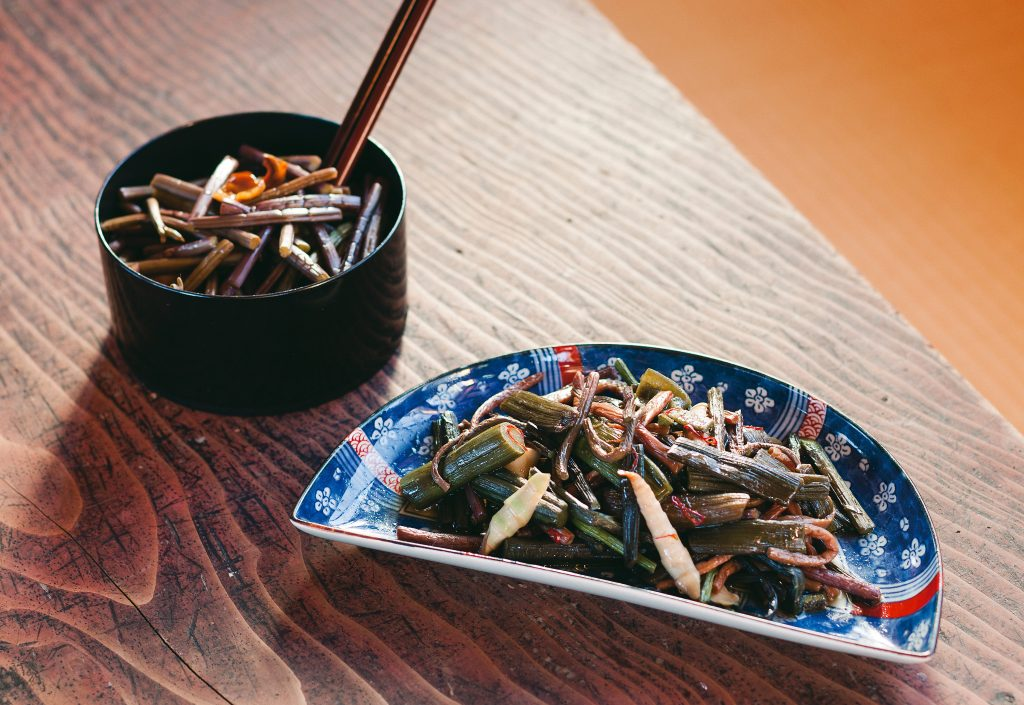 Traditional food in YUKIGUNI, Japan